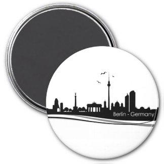 Skyline Berlin Runder Magnet 7,6 Cm
