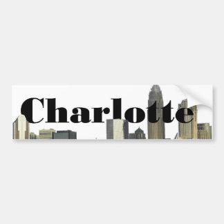 Skyline Charlottes NC mit Charlotte im Himmel Autoaufkleber