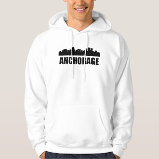 Skyline des Anchorage-AK Hoodie