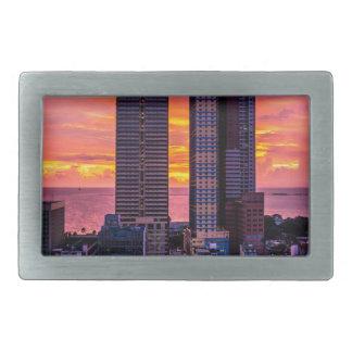 Skyline Manilas Philippinen Rechteckige Gürtelschnallen