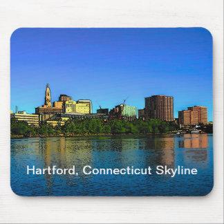 Skyline-Mausunterlage Hartfords Connecticut Mousepad