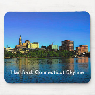 Skyline-Mausunterlage Hartfords Connecticut Mousepads