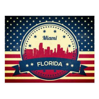 Skyline Miamis Florida Postkarte