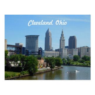 Skyline-Postkarte Clevelands, der Ohio Postkarte