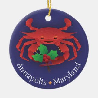 Skyline u. Krabbe Annapolis Maryland mit Keramik Ornament