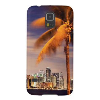 Skyline USA, Florida, Miami an der Dämmerung Galaxy S5 Hülle