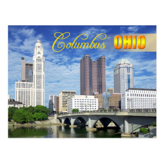 Skyline von Columbus, Ohio Postkarte