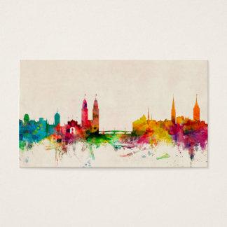 Skyline Zürichs die Schweiz Visitenkarten