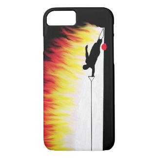 Slalom-Wasser-Skifahrer mit Flammen iPhone 8/7 Hülle