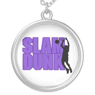 Slam Dunk-Basketball Versilberte Kette