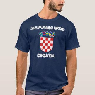 Slavonski Brod, Kroatien mit Wappen T-Shirt