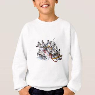 Sledding dalmatinische Welpen Sweatshirt