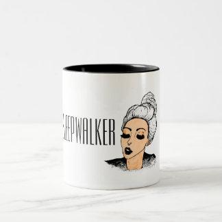 Sleepwalkermädchen-Morgen-Tasse Zweifarbige Tasse