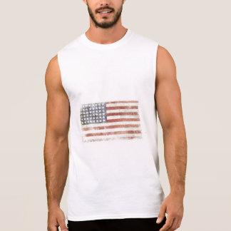 Sleeveless T-Stück mit cooler USA-Flagge