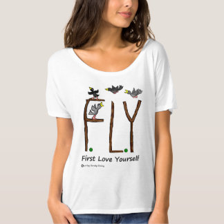 Slogan FLIEGE erste Liebe sich T-Shirt