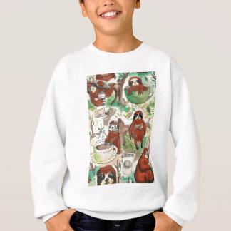 sloth coffee sweatshirt