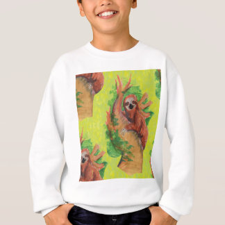 sloth in the tree sweatshirt
