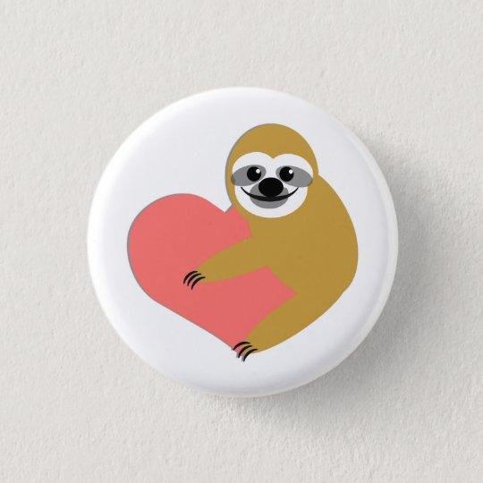 Sloth-Liebe Runder Button 2,5 Cm