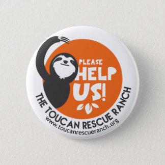 Sloth-StützAbzeichen Runder Button 5,7 Cm