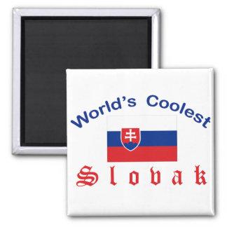 Slovaque le plus frais du monde magnet carré