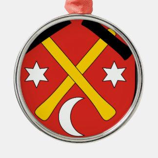 Slowakei #2 rundes silberfarbenes ornament