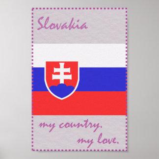 Slowakei mein Land meine Liebe Poster