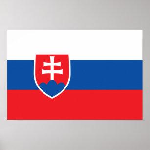 Slowakei - slowakische Flagge Poster