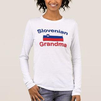 Slowenisch Großmutter Langarm T-Shirt