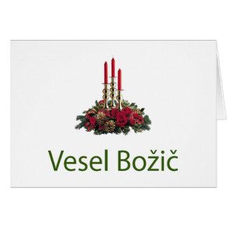 Slowenisch Weihnachtskarte Karte