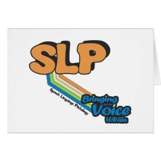 SLP, welches innen die Stimme herausbringt Karte