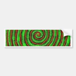 Smaragd-Spirale Autoaufkleber