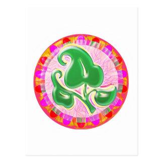Smaragdgrün-Blatt-Juwel Postkarte