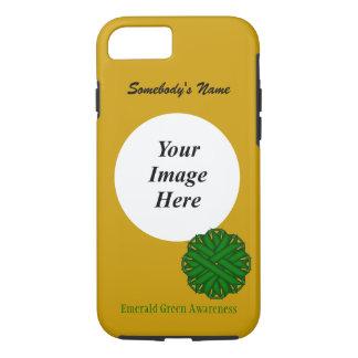 Smaragdgrün-Blumen-Band Tmpl durch K. Yoncich iPhone 7 Hülle