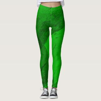 Smaragdgrün-Gamaschen Leggings