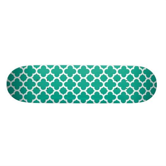 Smaragdgrün Quatrefoil Gitter-Muster Individuelles Deck