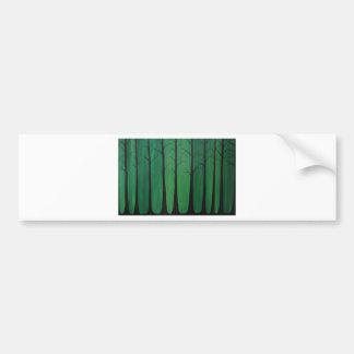 Smaragdgrün-Wald Autoaufkleber