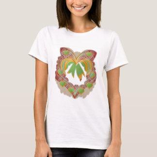 Smaragdgrün-wenig Herzen: Kranz einzigartig T-Shirt