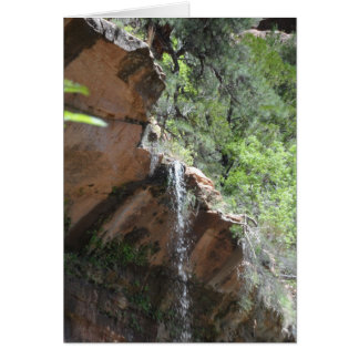 Smaragdpool-Szene - Zion Nationalpark Karte