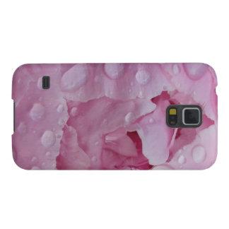 Smartphone-Hülle - Wassertropfen auf Pfingstrose Samsung S5 Hülle