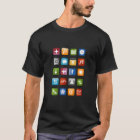 Smartphone-T-Shirt mit bunten APP-Ikonen T-Shirt
