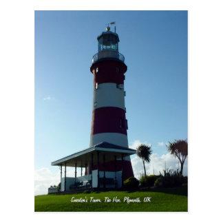Smeatons Turm, Plymouth-Hackenpostkarte Postkarte