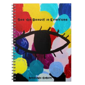 """Smeraldo Galerie """" sehen die Schönheit in jeder """" Spiral Notizblock"""