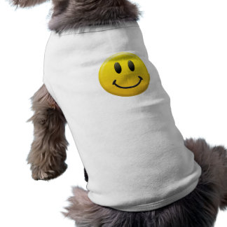 Smiley Ärmelfreies Hunde-Shirt