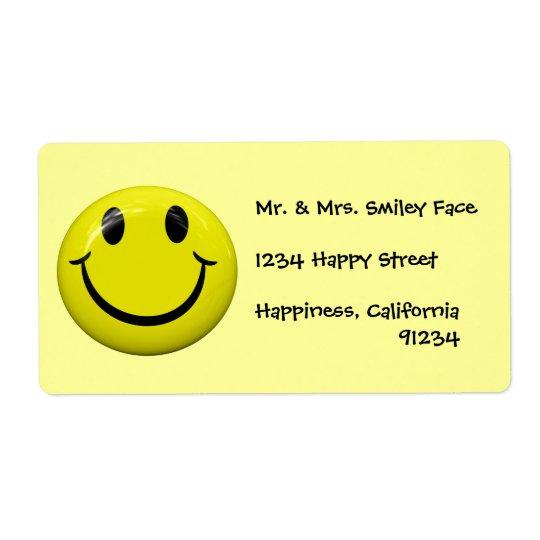 Smiley-Aufkleber Versandetiketten