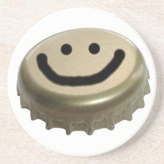 Smiley-Bierflasche-Kappe Untersatz