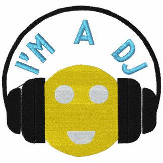 Smiley-DJ gestickte lange Hülse zweigen Schablone