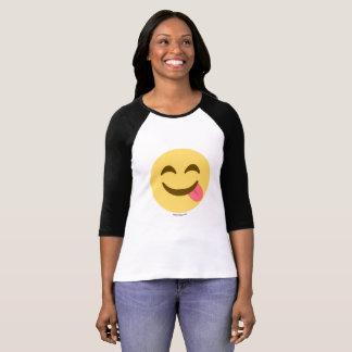 Smiley Emoji mit Zunge Guten Appetit T-Shirt