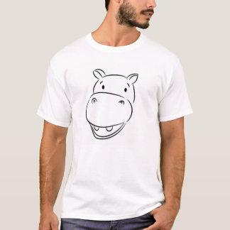 Smiley-Flusspferd T-Shirt