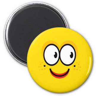 Smiley - gelber Magnet