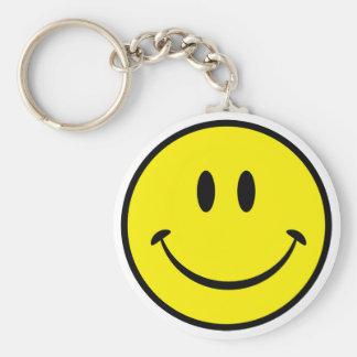 Smiley-Glück-Gesicht Standard Runder Schlüsselanhänger